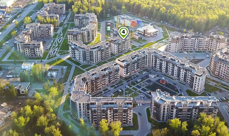 Микрорайон ЖК Солнечный, Троицкий бульвар, дом 4, план