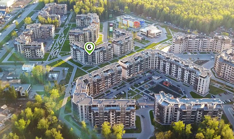 Микрорайон ЖК Солнечный, Троицкий бульвар, дом 6, план