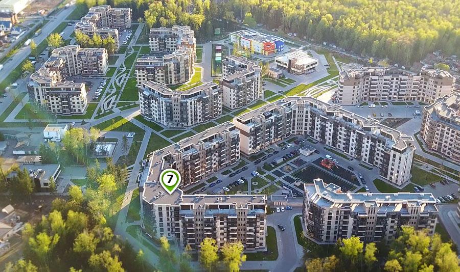 Микрорайон ЖК Солнечный, Троицкий бульвар, дом 7, план