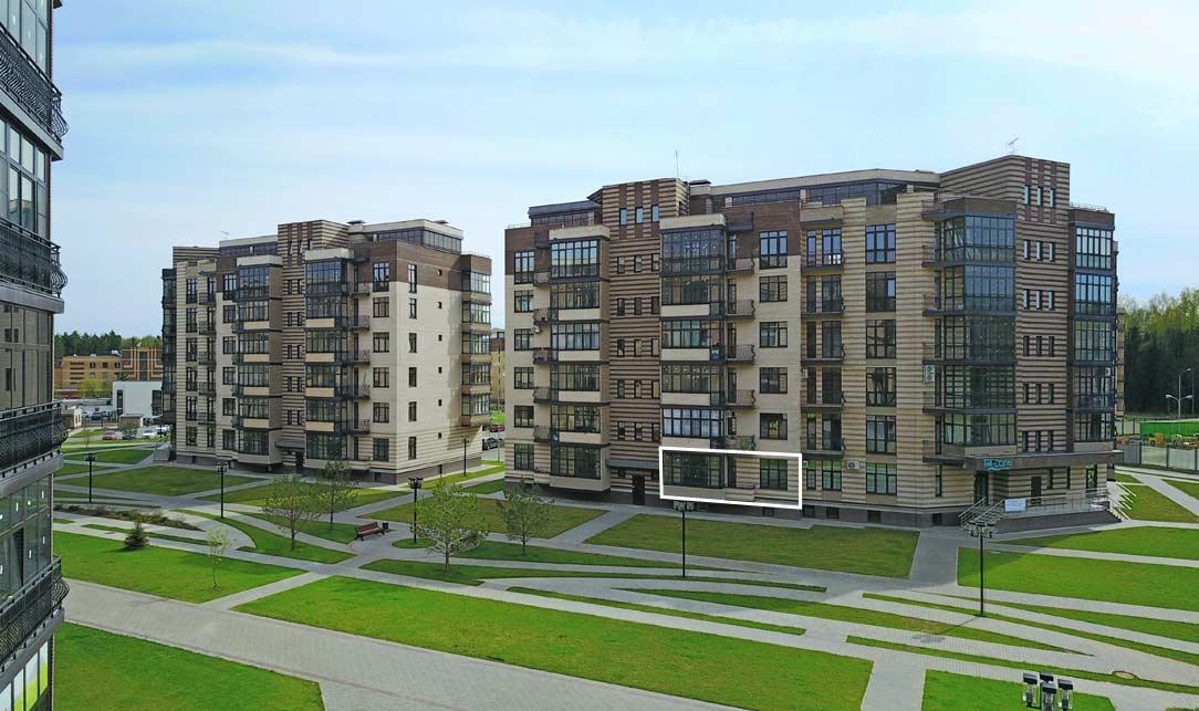 Вид квартиры со стороны Троицкого бульвара, Микрорайон ЖК Солнечный