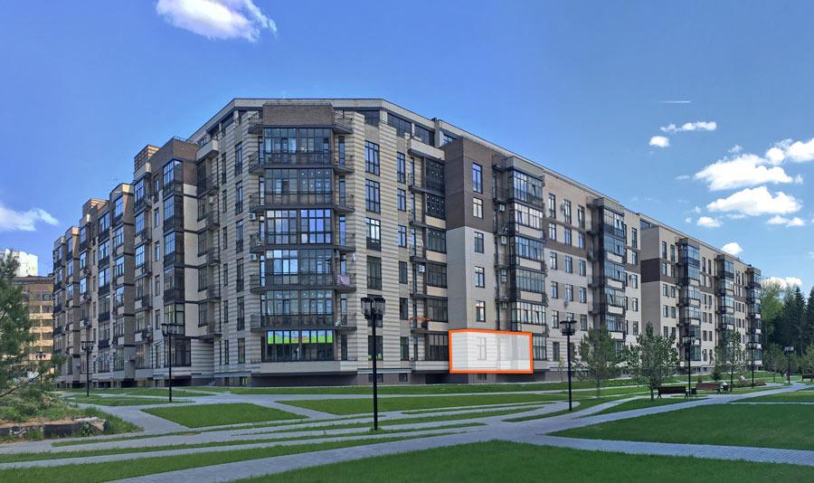 Микрорайон ЖК Солнечный, Троицкий бульвар, дом 5, квартира 25, вид со стороны Троицкого бульвара