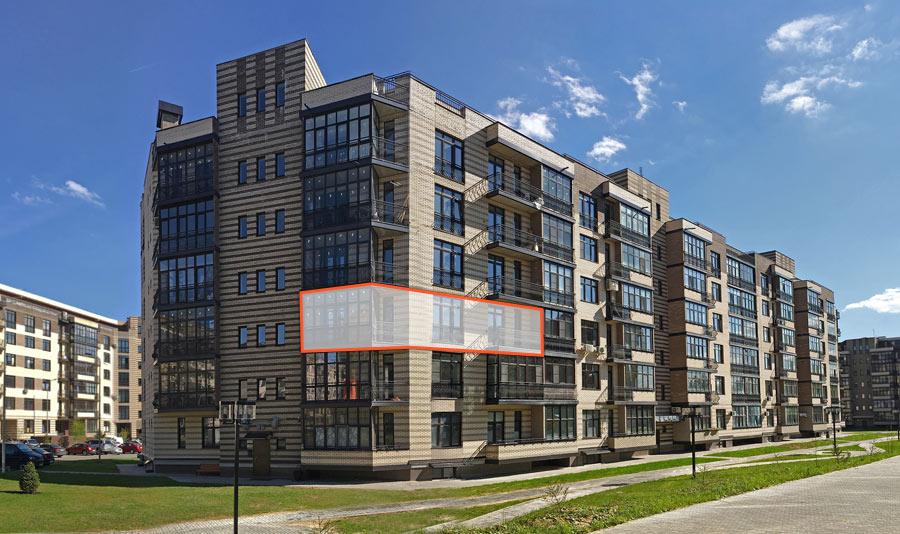 Микрорайон ЖК Солнечный, Троицкий бульвар, дом 5, квартира 124, вид