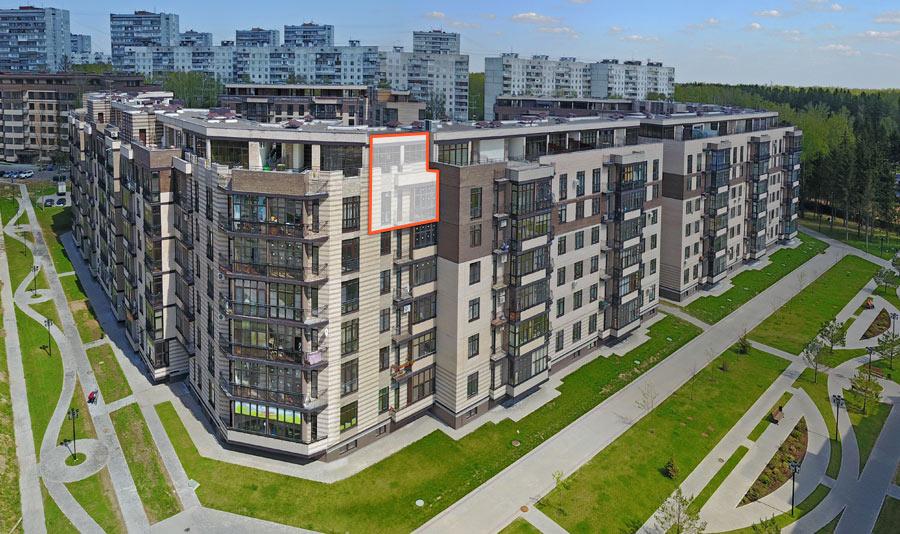 Микрорайон ЖК Солнечный, Троицкий бульвар, дом 5, квартира 55, вид