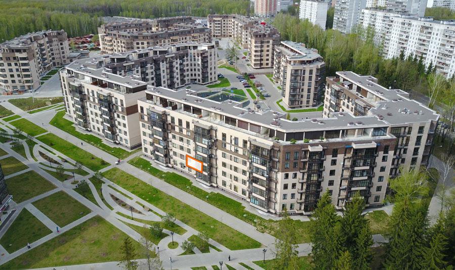 Микрорайон ЖК Солнечный, Троицкий бульвар, дом 7, квартира 89, вид со стороны