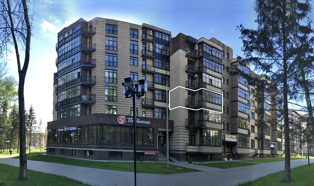 Микрорайон ЖК Солнечный, Троицкий бульвар, дом 7, квартира 28, вид