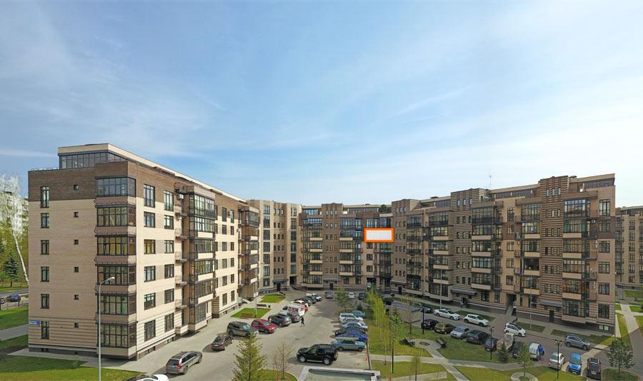Микрорайон ЖК Солнечный, Троицкий бульвар, дом 7, квартира 79, вид со стороны двора