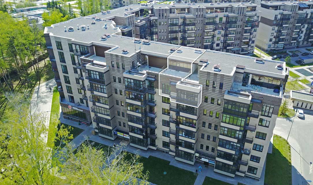 Вид со стороны Солнечная ул., Квартира 20, 6 этаж, Троицкий бульвар дом 7. Микрорайон ЖК Солнечный