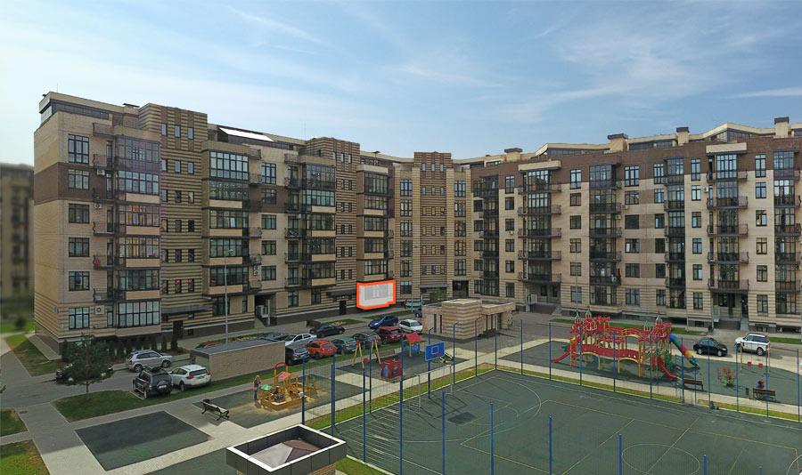 Микрорайон ЖК Солнечный, Троицкий бульвар, дом 5, квартира 25, вид со стороны двора