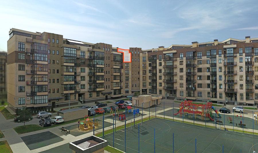Микрорайон ЖК Солнечный, Троицкий бульвар, дом 5, квартира 55, вид со стороны двора