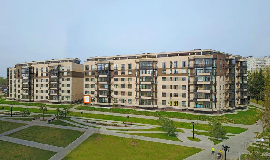 Микрорайон ЖК Солнечный, Троицкий бульвар, дом 7, квартира 100, вид со стороны Троицкого бульвара