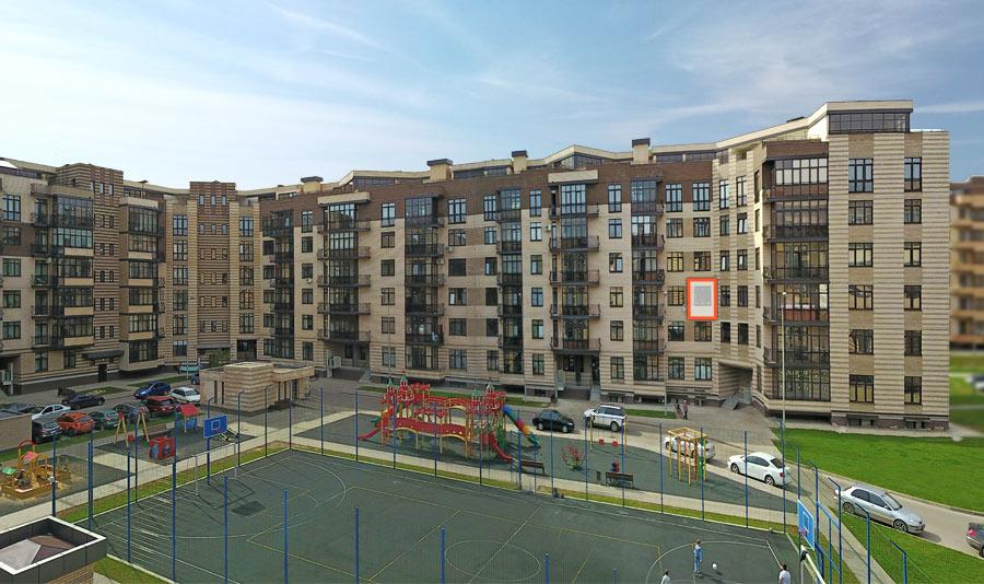 Микрорайон ЖК Солнечный, Троицкий бульвар, дом 5, квартира 124, вид со стороны двора
