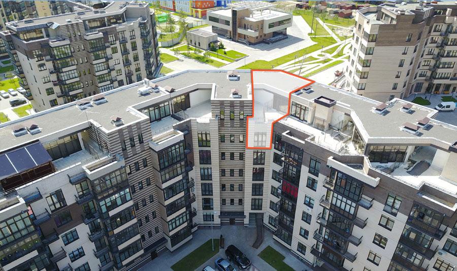 Микрорайон ЖК Солнечный, Троицкий бульвар, дом 5, квартира 58, вид сверху