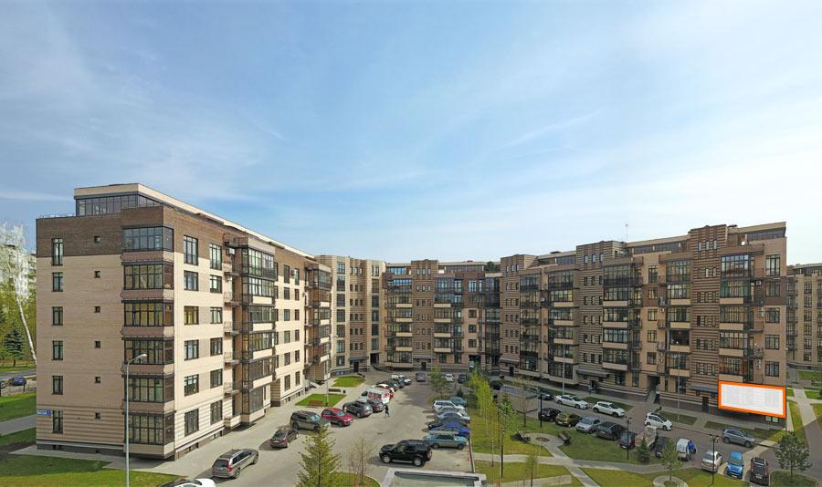 Микрорайон ЖК Солнечный, Троицкий бульвар, дом 7, квартира 100, вид со стороны двора