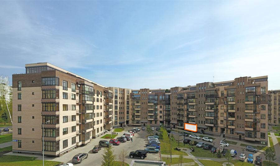 Микрорайон ЖК Солнечный, Троицкий бульвар, дом 7, квартира 86, вид со стороны двора