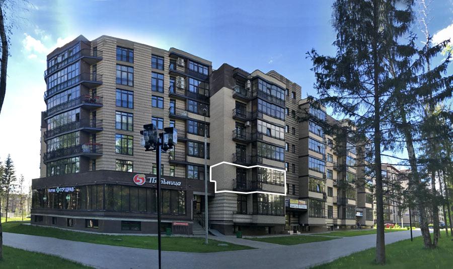 Микрорайон ЖК Солнечный, Троицкий бульвар, дом 7, квартира 26, вид