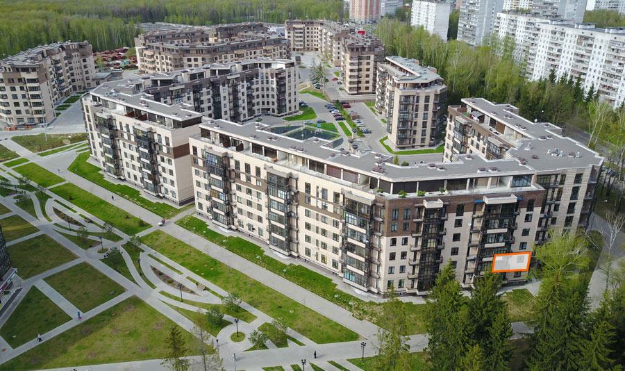 Микрорайон ЖК Солнечный, Троицкий бульвар, дом 7, квартира 53, вид со стороны