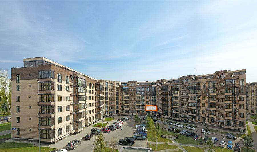 Микрорайон ЖК Солнечный, Троицкий бульвар, дом 7, квартира 67, вид со стороны двора