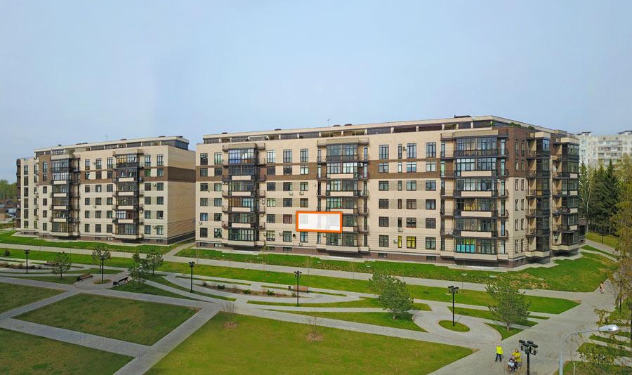 Микрорайон ЖК Солнечный, Троицкий бульвар, дом 7, квартира 89, вид со стороны Троицкого бульвара