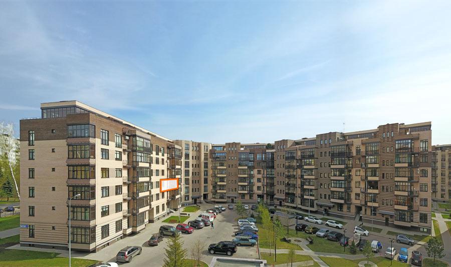 Микрорайон ЖК Солнечный, Троицкий бульвар, дом 7, квартира 29, вид со стороны двора