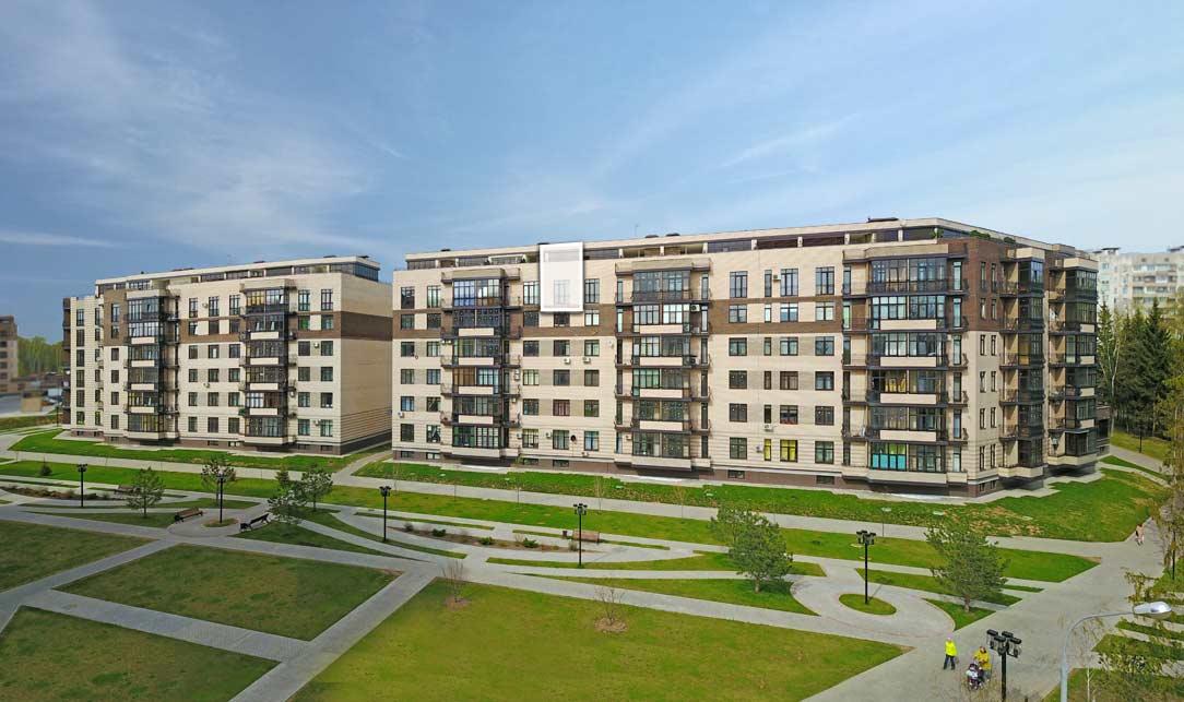 Вид со стороны Троицкого бульвара. Квартира 117, 6 этаж, Троицкий бульвар дом 7. Микрорайон ЖК Солнечный