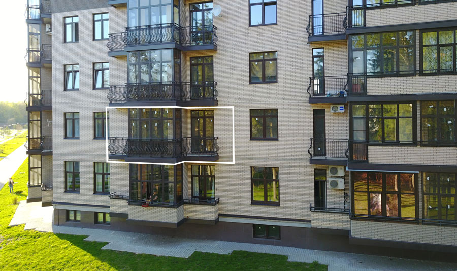 Микрорайон ЖК Солнечный, Троицкий бульвар, дом 7, квартира 67, вид со стороны