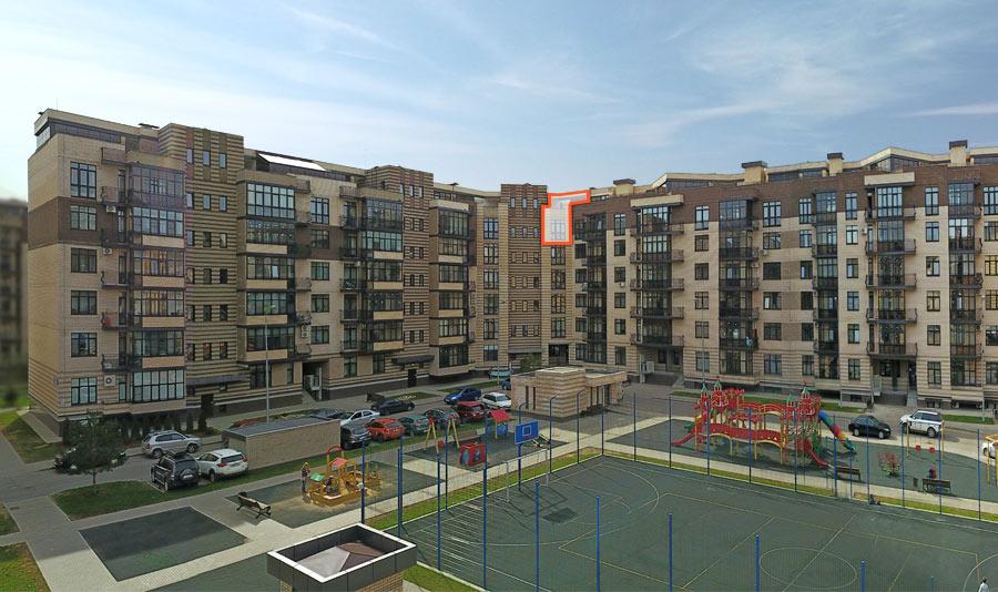 Микрорайон ЖК Солнечный, Троицкий бульвар, дом 5, квартира 58, вид со стороны двора