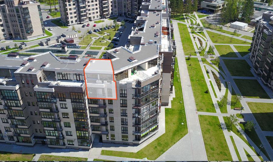 Микрорайон ЖК Солнечный, Троицкий бульвар, дом 5, квартира 58, вид