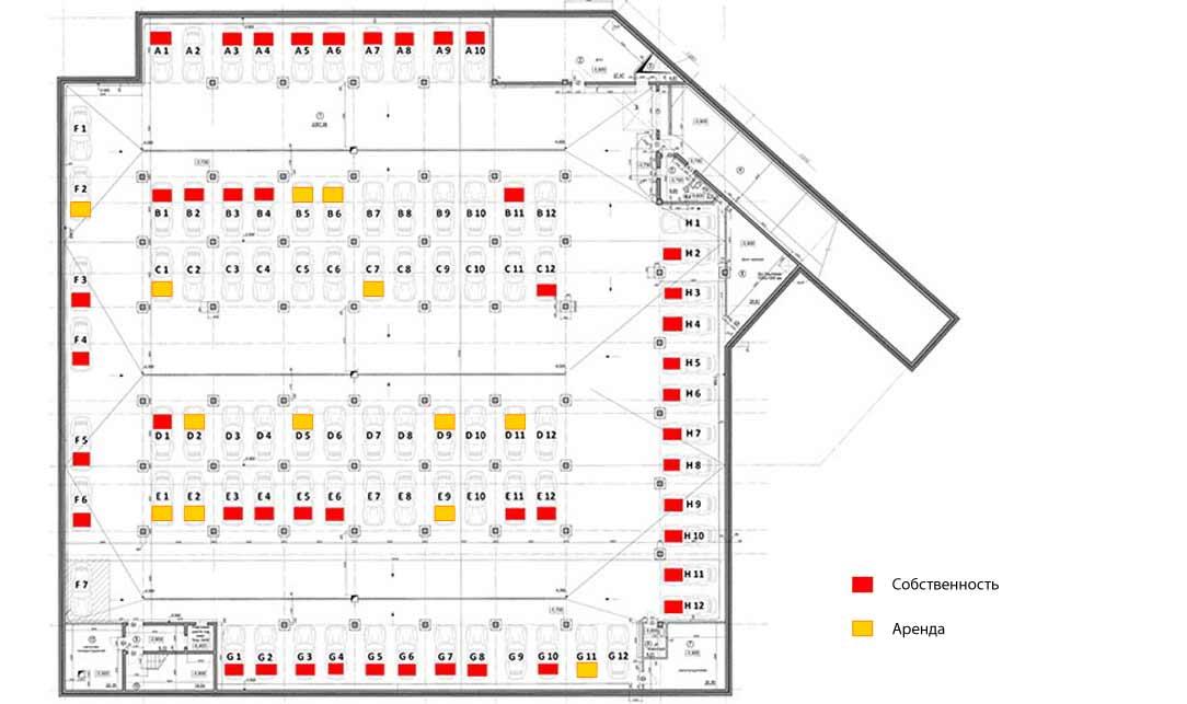 Свободные места на подземной парковке микрорайон ЖК Солнечный Троицк Москва по состоянию на 07.07.2017