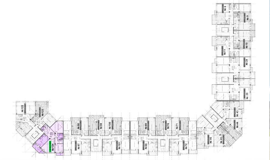 Микрорайон ЖК Солнечный, Троицкий бульвар, дом 5, квартира 124, план 3 этажа
