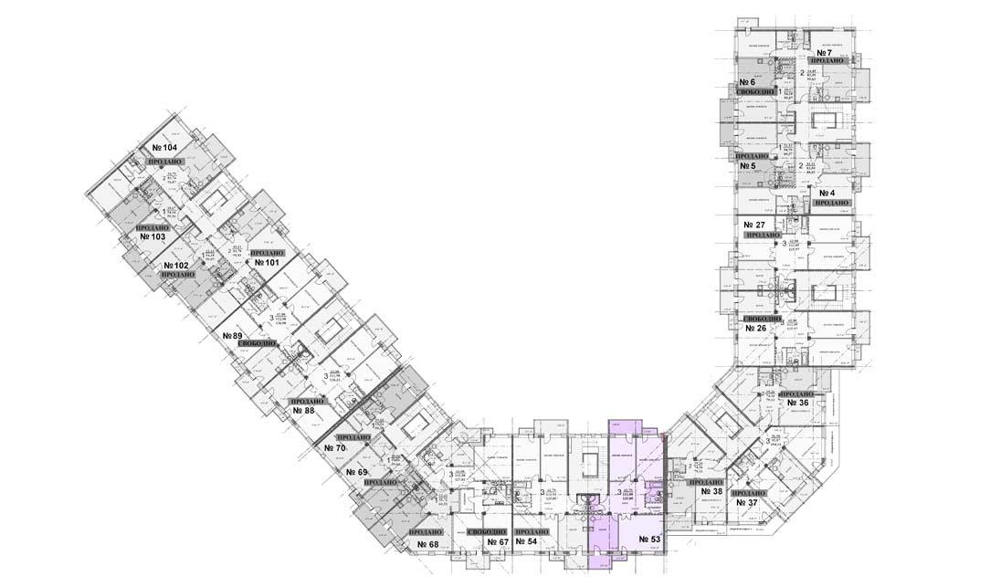 Квартира 53, 2 этаж, Троицкий бульвар дом 7. Микрорайон ЖК Солнечный
