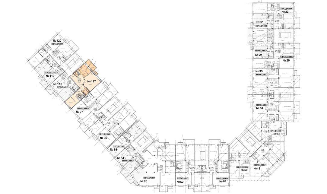 Квартира 117, 6 этаж, Троицкий бульвар дом 7. Микрорайон ЖК Солнечный