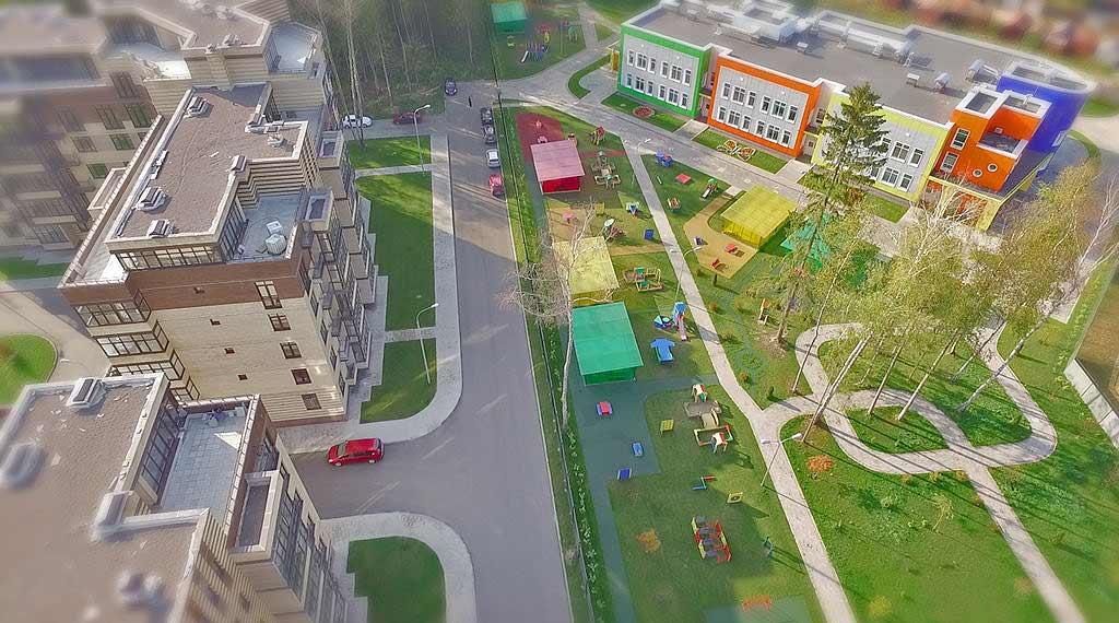 Детский сад на территории микрорайона ЖК Солнечный Троицк Москва купить квартиру в новостройке
